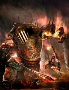 God of War 3, my favorite boss fight, Hades!! <3