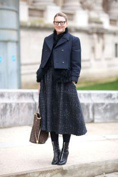 Street Style - Street Style Haute Couture Spring 2014 - Harper's BAZAAR
