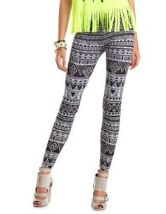 You Can Never Go Wrong With A Pair of Leggins Geo Aztec Design