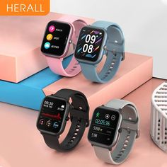 Smart Watch - For Android, Xiaomi, Apple and Huawei - Black With 1 Strap 2 / China