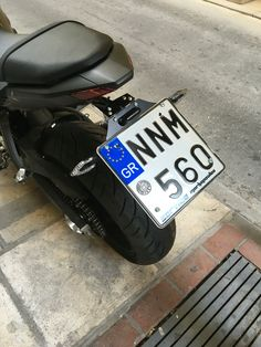 Barracuda license plate holder for Yamaha MT-07