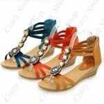 Trendy retro style wedge sandals for girls  Features Boho style & beads decoration  Makes you look modern & Trendy by wearing it  Easy to match with your clothes, dresses, handbag, etc.  Suitable for daily wearing or taking part in activities  Upper Material: PU  Lining Material: PU  Heel: Wedge  Heel Height: 40 mm / 1.56 inch