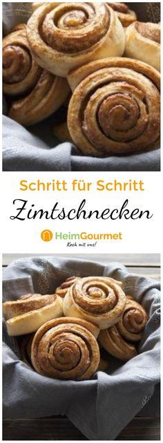 Zimtschnecken, auch als Cinnamon Rolls bekannt, zählen zu dem köstlichen Gebäck, das einfach immer gut schmeckt!