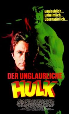 """The Incredible Hulk"" (1978 / tv series 1977 - 1982) VHS cover (Germany)"