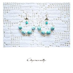 JEWELRY | Chryssomally || Art & Fashion Designer - Boho chic silver earrings with turquoise and green gemstones