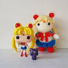 Twin power!  #sailormoon #funkopop #usagi #crochet #moonprismpowermakeup #amigurumi #luna #princessserenity #funkovinyl #cute #anime #manga #sailormooncrystal #yarn #kawaii #cartoon #geek