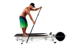 The KayakPro SUP Ergometer replicates SUP paddling precisely.  It is designed for high impact, high frequency and multi-user use by individuals in gyms, clubs and by professionals. It's robust aluminum and steel frame construction and easy operating mechanisms, allow intuitive use and easy adjustment.