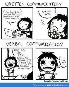 This totally me during presentation time!! lol