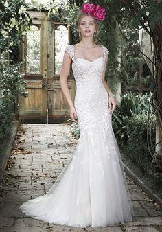 Maggie Sottero: Azura. This was MY dress 😘 Mine was soft blush with an ivory overlay. #lovemyMaggie #MaggieBride #MermaidSilhouette