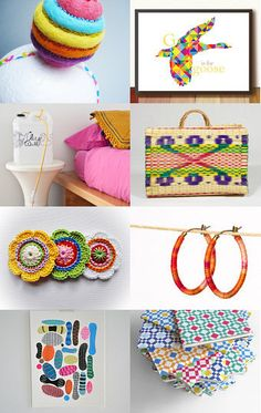Rainbow Christmas by Ana Ribeiro on Etsy--Pinned with TreasuryPin.com #PTteamEtsy #ChristmasColorsProject #EtsyEurope #Portugal