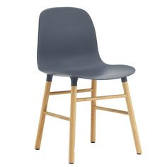 Buy Form Chair - Wood Legs from Normann Copenhagen. With the mission of creating a shell chair with a more unified look that would stand as one cohesive.