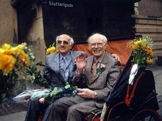 Axel e Eigil Axgil il 1 ottobre 1989 (Epa)