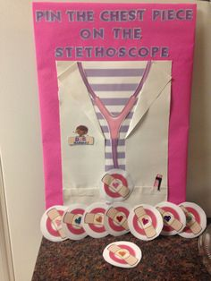 DIY: Doc Mcstuffins Pin The Chest Piece On The  Stethoscope Game