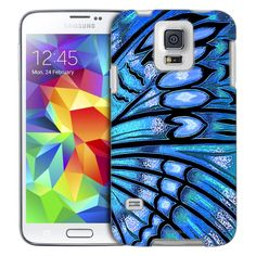 Samsung Galaxy S5 Butterfly Wing - Blue Turquiose Slim Case
