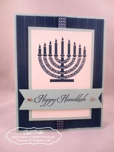 stampin up and hsnukkah | ... Hanukkah Card | Andi Potler, Independent Stampin' Up Demonstrator