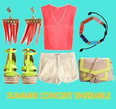 Buy those concert tickets yet? Accessorize your look with these Jhaal earrings, Pyramid Stud Necklace, & Zahara bracelet.
