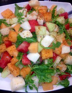 Jicama & melon salad w/ chipotle lime vinaigrette