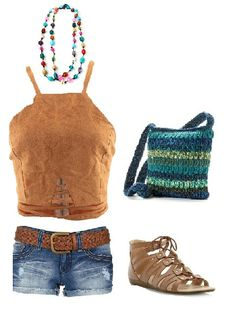Summer casual outfit idea. Built with Fashiers app