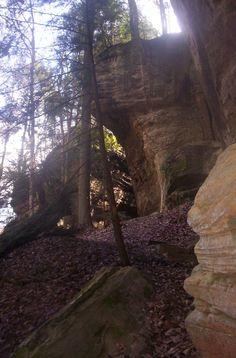 Cantwell Cliffs in Hocking Hills Ohio hiking trip
