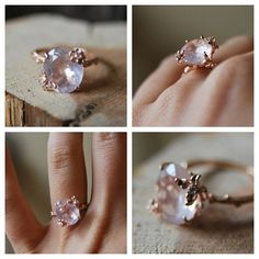 Vintage Rose Quartz Ring. Available in both shops and online. (at Old Hollywood)