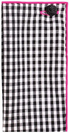 Black and White Gingham Pocket Square