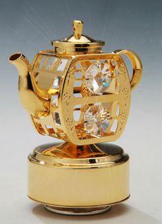 Gold Teapot Music Box