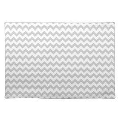 Motif gris-clair de Chevron (lignes minces) Sets De Table