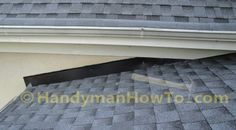 The new porch roof installation details are illustrated with the stucco apron/headwall flashing and counter flashing. A section of rotted soffit and fascia board are also replaced. Fascia Board, Roof Flashing, Stucco Walls, Porch Roof, Roof Installation, Counter