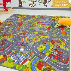kids car road track children play mat pad rug big 2m x 16m carry playground pinterest kids cars play mats and plays