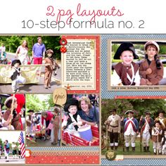 Make an Easy Two-Page Scrapbook Layout with 10 Step Formula No. 2 | Get It Scrapped
