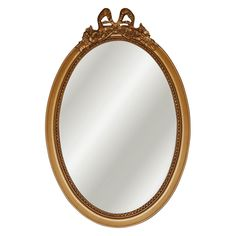 Hickory Manor House Smooth Oval Mirror With Bow   14W X 26H In. | From