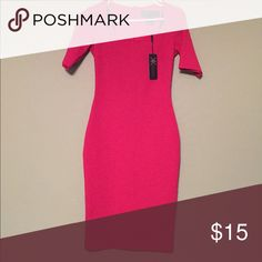 Red Kim Kardashian Bodycon Pencial Dress Very firm fitting brand new Kim K red dress. Perfect for the holidays! Dresses Midi