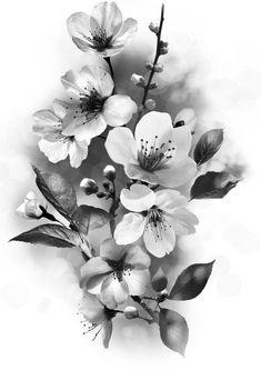 Atemberaubende Blumen Tattoos Ideen - Brenda O. Rosen - Blumen Tattoos - 55 Atemberaubende Blumen Tattoos Ideen Brenda O. Tattoo Fleur, Flor Tattoo, Tattoo Arm, Black Tattoos, Small Tattoos, Cherry Flower, Cherry Blossoms, Lotus Flower, Shape Tattoo