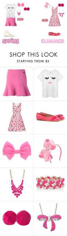 """""""Girly Girl: Seasonal Outfits (Part: 1)"""" by sierra-ivy on Polyvore featuring Kenzo, Oscar de la Renta, Salvatore Ferragamo, FOSSIL, Forever New and Amanda Rose Collection"""