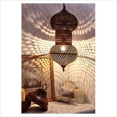 Morrocan Lantern - punched tin --- try it :D
