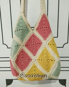 My first granny squares bag                                                                                                                                                                                 More