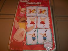 Olivia the Pig Match It! Classic game of finding the match, but this version is especially sweet because it's OLIVIA THE PIG ♥ ♥
