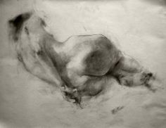 "(via Saatchi Art Artist: Glib Franko; Graphite 2012 Drawing ""nu"")"