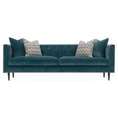 "Check out this item at One Kings Lane! Elle 90"" Tuxedo Sofa, Mediterranean"