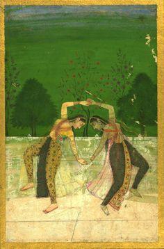 Dancing girls, India, 12th century AH / 18th CE [Walters Ms. W.710]