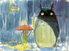 early Totoro concept art
