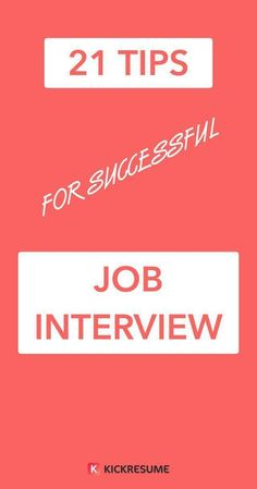 infographic : infographic : infographic : infographic : 21 Tips for a Successful Job Interview