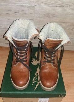 Kup mój przedmiot na #vintedpl http://www.vinted.pl/damskie-obuwie/inne-obuwie/16571240-highland-creek-trapery-traperki-timberland-brazowe-40-skora-kozuszek-ocieplane