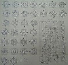 Картинка Blackwork Cross Stitch, Blackwork Embroidery, Embroidery Stitches, Embroidery Patterns, Geek Cross Stitch, Cross Stitch Charts, Cross Stitch Patterns, Blackwork Patterns, Zentangle Patterns