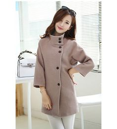 aa920b36afa67 Camel Long Sleeve Stand Collar Single-Breasted Coat is Hot Selling at  MsFairy.com. Plus Size OuterwearSingle BreastedTrench ...