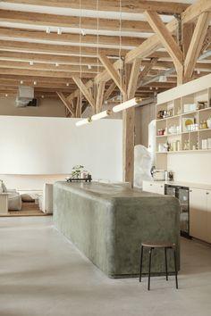 Showroom Design, Cafe Design, Küchen Design, House Design, Architecture Restaurant, Interior Architecture, Interior Desing, Interior And Exterior, Interior Colors