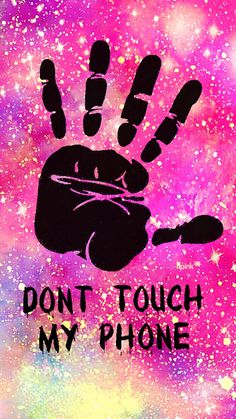 Don't Touch My Phone Grunge Galaxy iPhone/Android Wallpaper I Created For The App Top Chart #don'ttouchmyphone #patternwallpaper #iphonewallpaper #quotes #pattern #homescreen #lockscreen