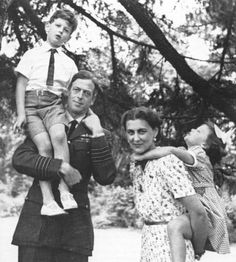 George, Duke of Kent, with his wife, Marina, and their children - Edward and Alexandra.