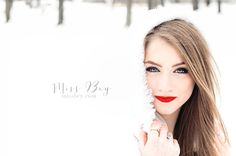 Senior Session in the Snow COOL IDEA FOR SENIOR PICS. . .IN MICHIGAN!