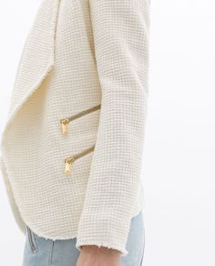 Image 5 of STRUCTURED JACKET WITH ZIPS from Zara